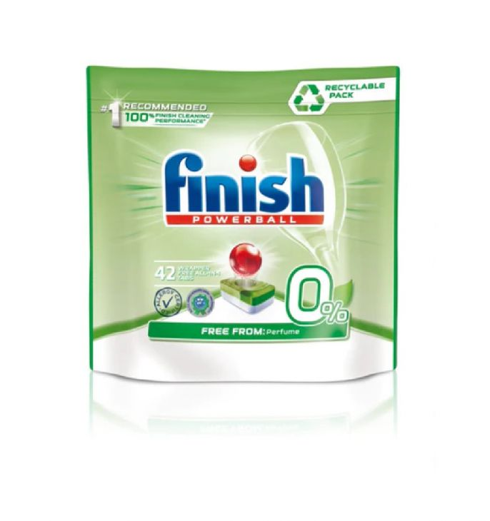 FINISH AIO MAX 0% таблетки для ПММ 42 шт