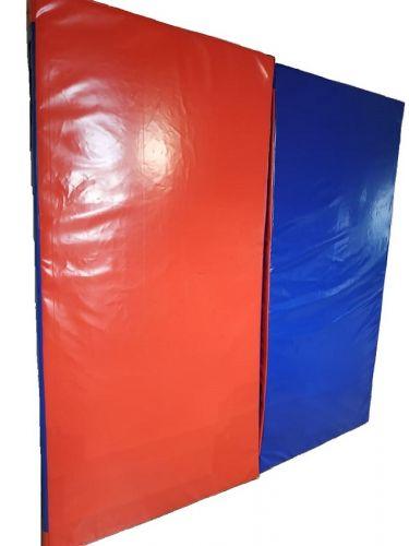 Спортивный мат 200х100х10 см, красно-синий, другие размеры и цвета под заказ