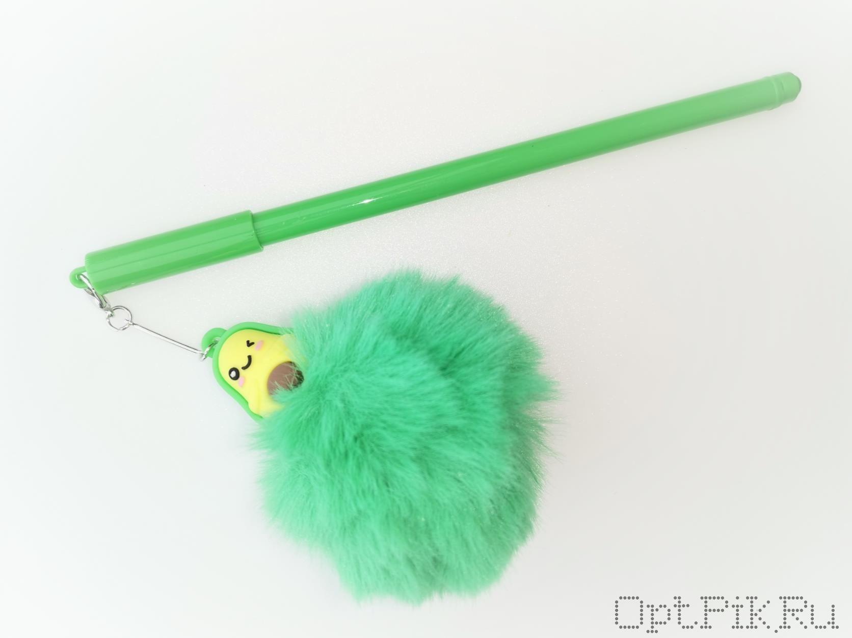 Ручка с пушистым авокадо