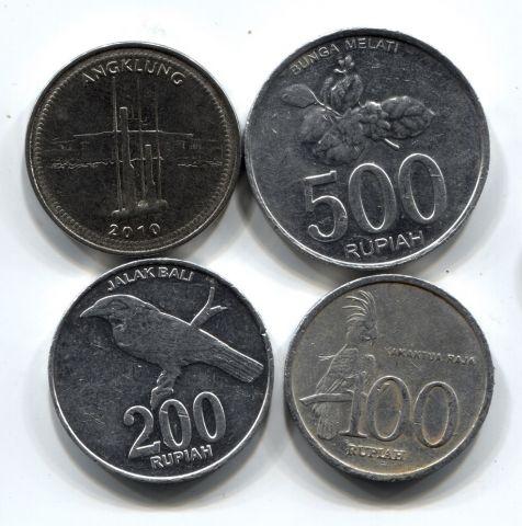 Набор монет Индонезия 1999-2010 4 шт. НАБ ИНД-ЗИЯ-001