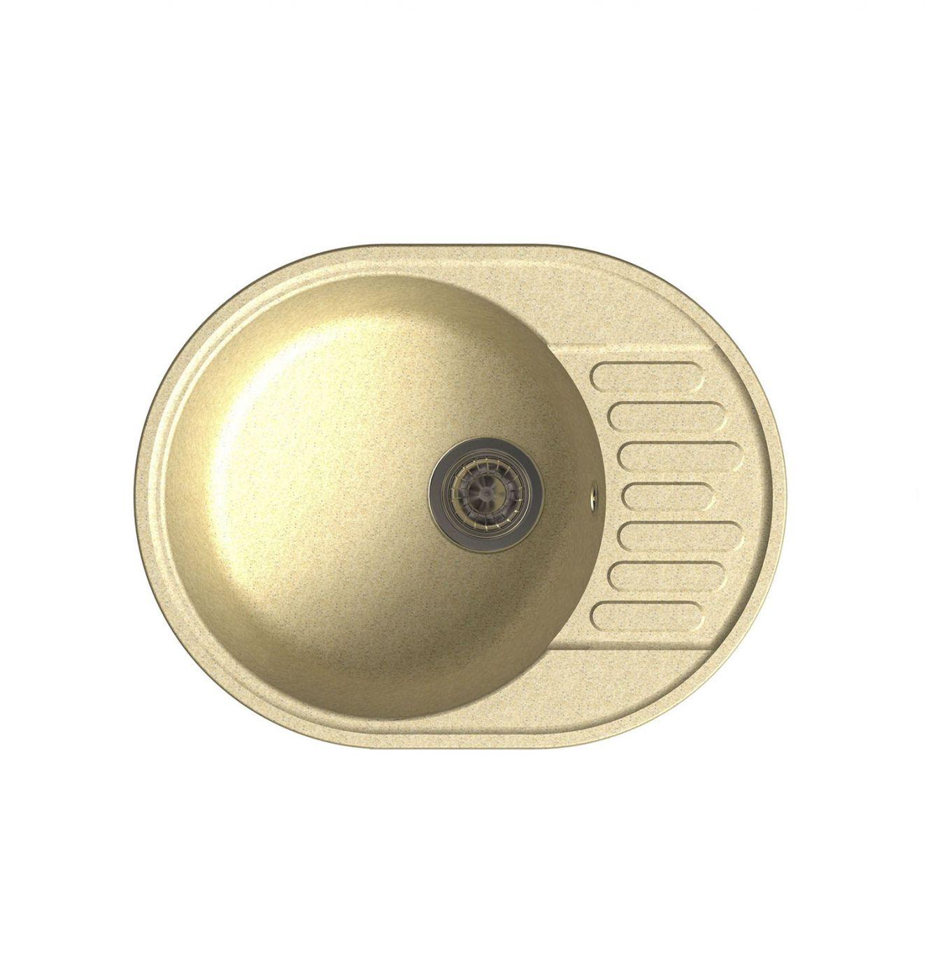 Врезная кухонная мойка LEX Orta 620 Ivory  62х48см полимер RULE000028