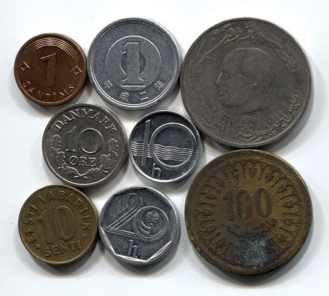 Набор монет Мира 1960-2008 9 шт. НАБ МИР-001