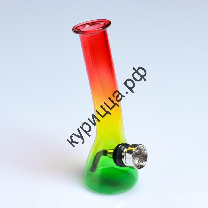 Бонг цветной, 4х5х12.3 см