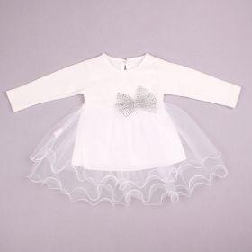 ММ Платье с длинным рукавом (молочный) арт 27198