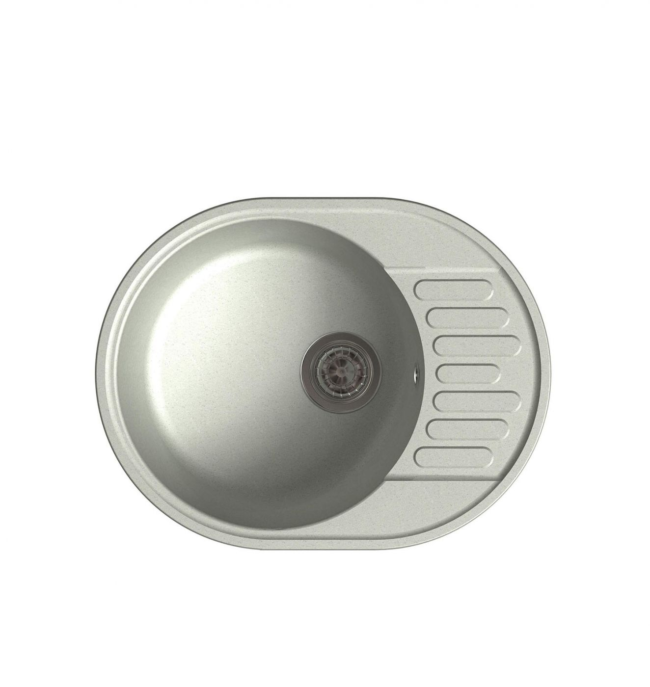 Врезная кухонная мойка LEX Orta 620 Space Gray  62х48см полимер RULE000030