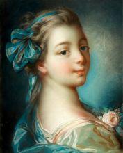 Девушка с розой ( Репродукция Франсуа Буше )