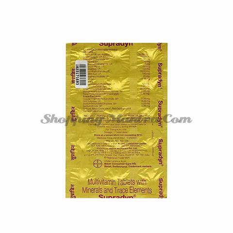 Супрадин мультивитаминный комплекс Эббот Индия | Abbott India Supradyn Tablet