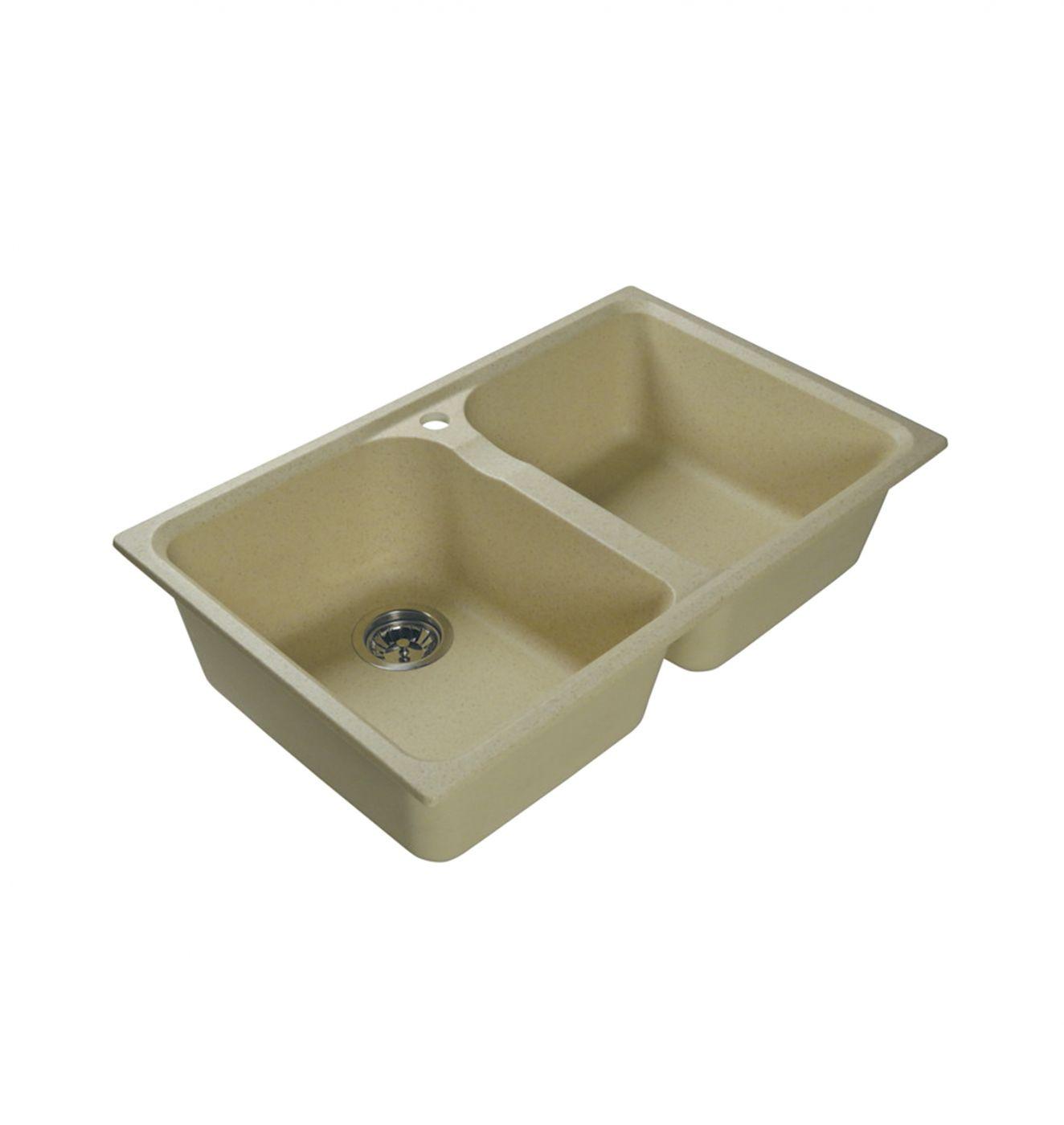 Врезная кухонная мойка LEX Constance 780 Ivory  78х49см искусственный мрамор RULE000124