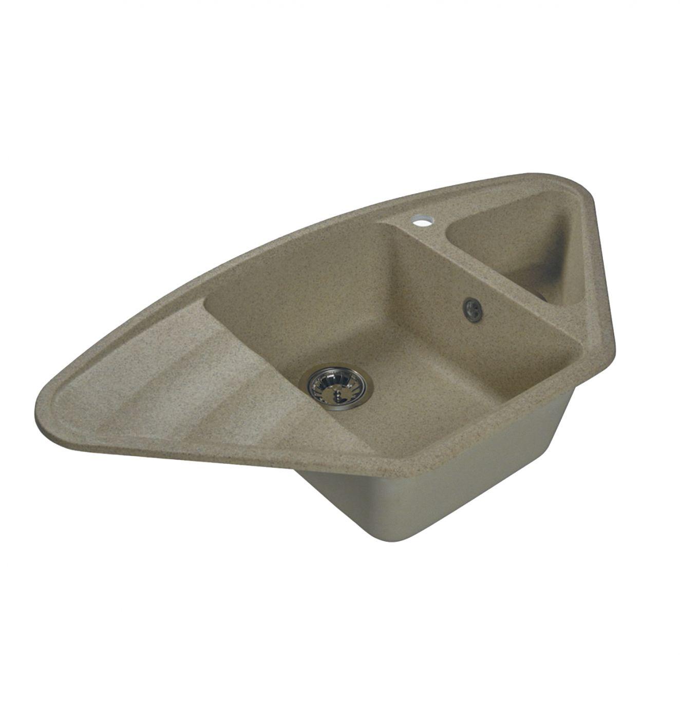 Врезная кухонная мойка LEX Haruna 950 Sand  95х50см искусственный мрамор RULE000131