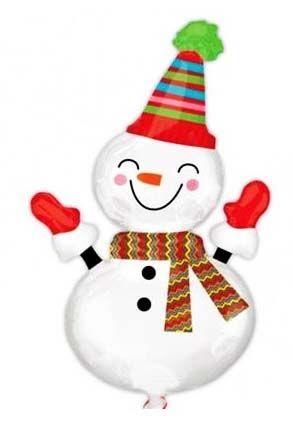 Воздушный шар Снеговик (91 см)