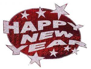 Декорация Happy New Year! Красная