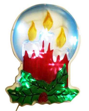 Новогоднее светящееся LED-панно Свечи