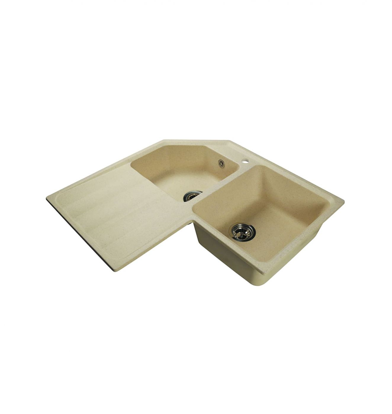Врезная кухонная мойка LEX Moreno 830 Ivory  83х83см искусственный мрамор RULE000136