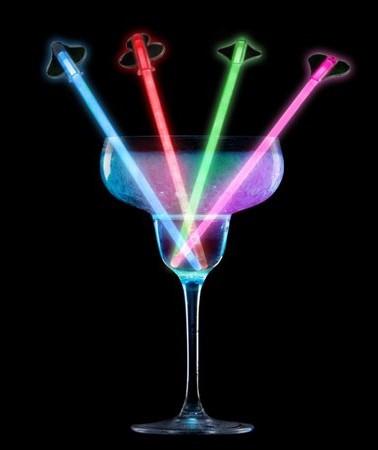 Светящиеся палочки для смешивания коктейлей Glow Stir Sticks, 4шт
