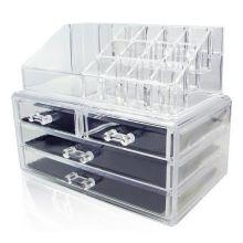 Акриловый органайзер для косметики Cosmetic Storage Box, Количество ящичков: 4