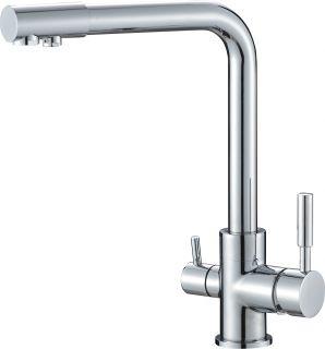 Смеситель для кухонной мойки под фильтр Savol S-L1801 хром