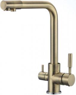 Смеситель для кухонной мойки под фильтр Savol S-L1801C бронза