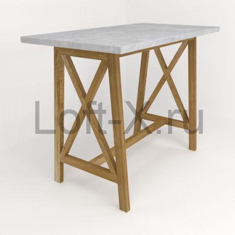 """Барный стол с бетонной столешницей """"Архитектор"""""""
