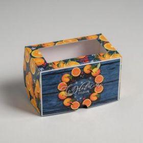 Коробка для капкейков «С Новым Годом» 10 х 16 х 10 см