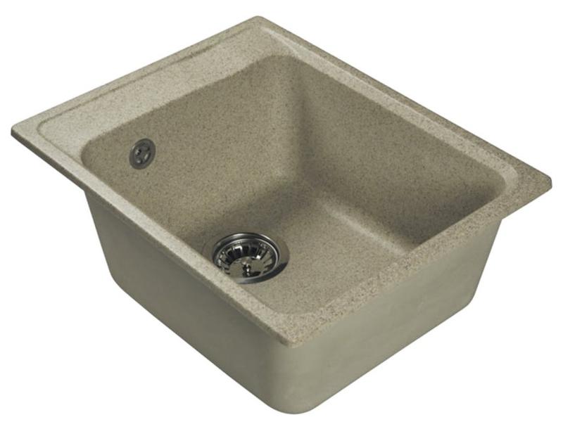 Врезная кухонная мойка LEX Nemi 510 Sand  41х51см искусственный мрамор RULE000077