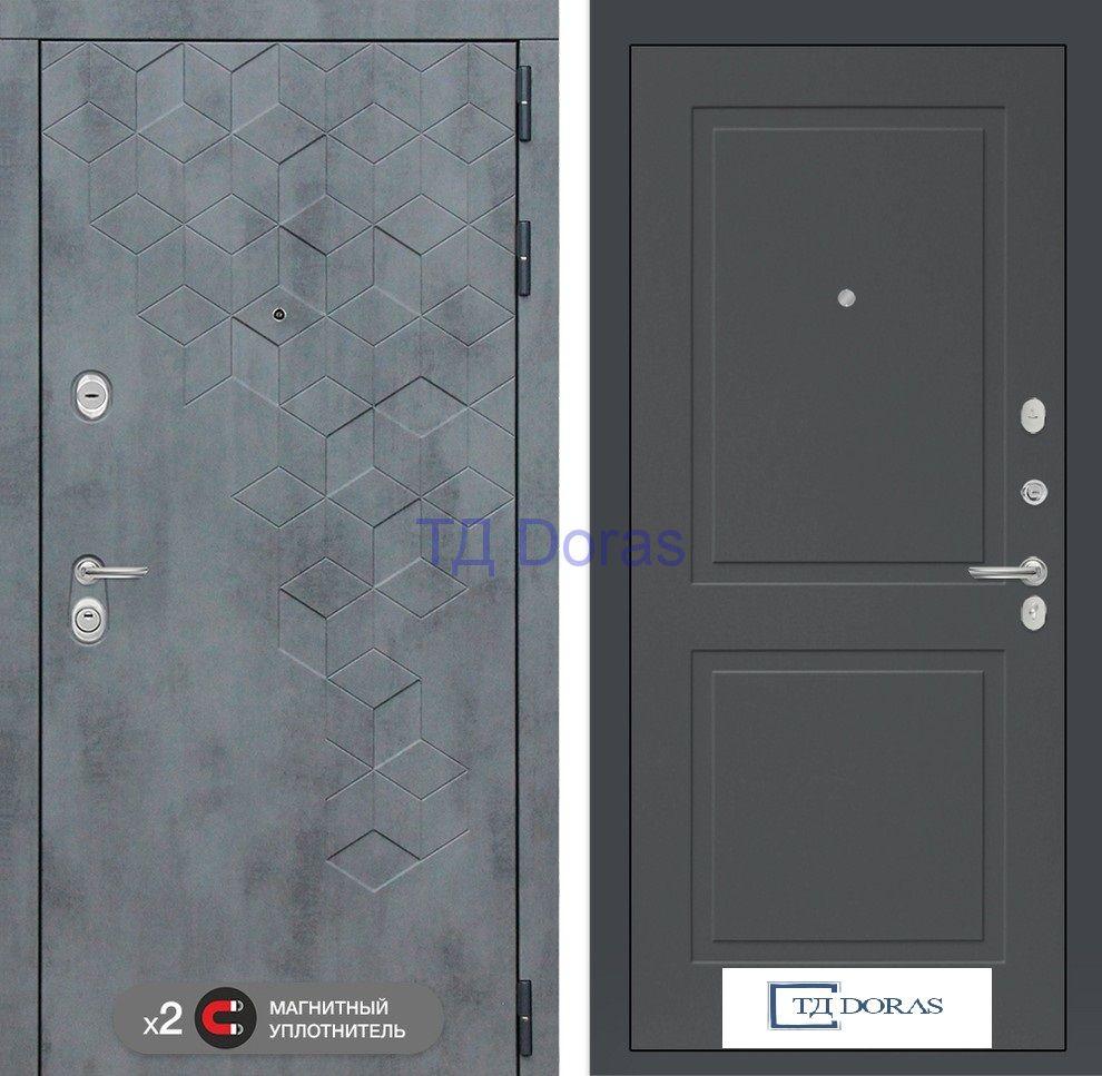Входная дверь Бетон 11 - Графит софт