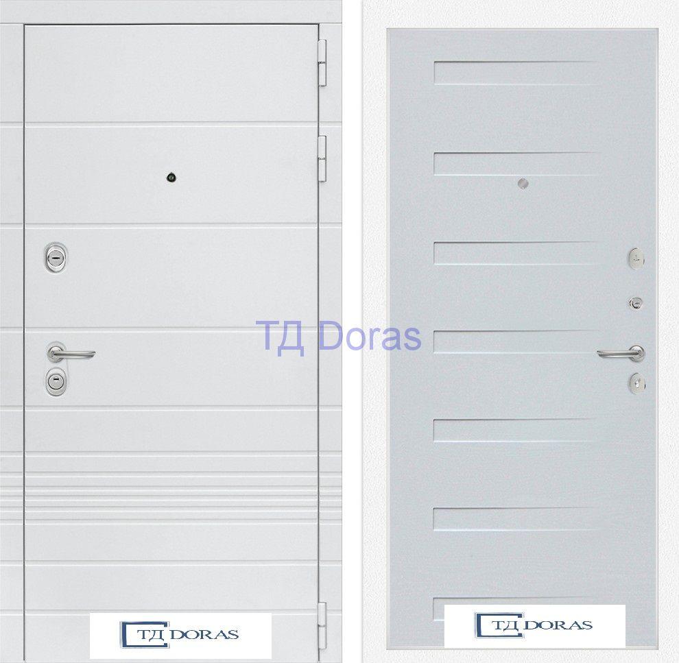 Входная дверь Трендо 14 - Дуб кантри белый горизонтальный