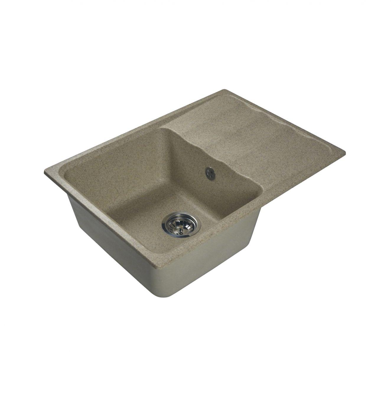 Врезная кухонная мойка LEX Sirino 680 Sand  68х49см искусственный мрамор RULE000107