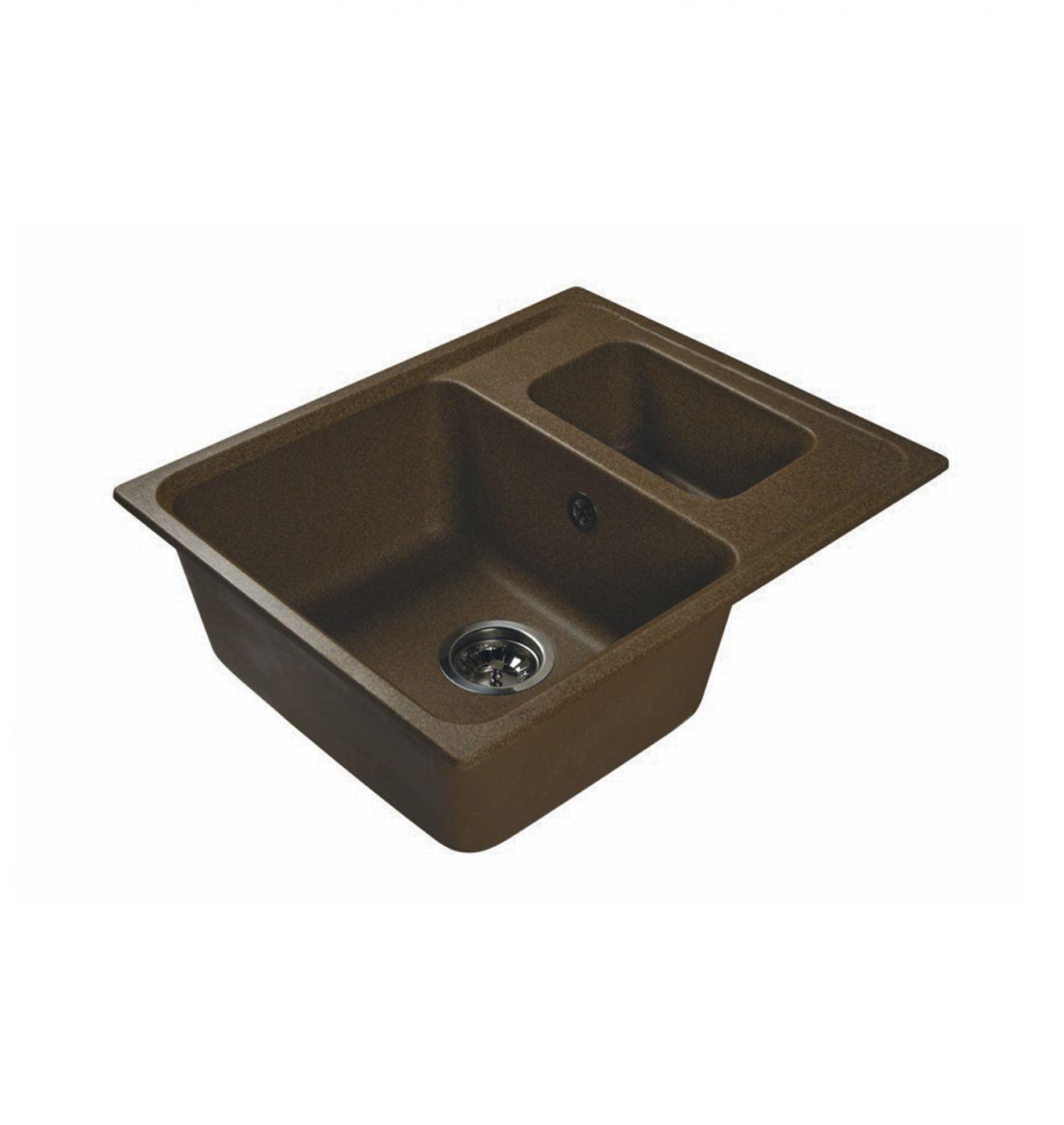 Врезная кухонная мойка LEX Zurich 590 Chocolate 59х49см искусственный мрамор RULE000087