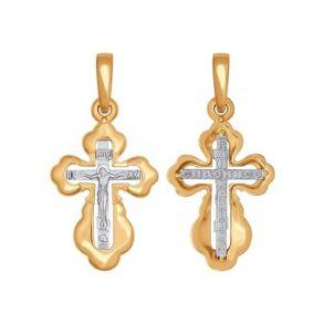 Крест из комбинированного золота 121325 SOKOLOV