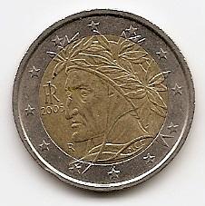 2 евро Италия  2005  регулярная из обращения