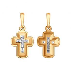 Православный золотой крестик 121437 SOKOLOV