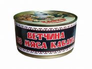 "Ветчина из мяса КАБАНА ""Балтийская ОХОТА"" с КЛЮЧОМ, МКК Балтийский  325г.ж."