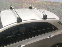 Багажник на крышу Mazda 6 (GH) 2007-13 sedan/hatchback, Евродеталь, аэродинамические дуги