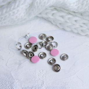 Кнопки рубашечные закрытые - Розовый металл 9.5 мм