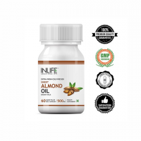 Масло сладкого миндаля (500мг капсула) Инлайф | INLIFE Sweet Almond Oil Capsules 500mg