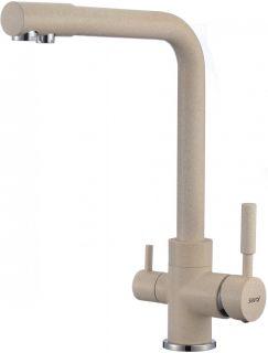 Смеситель для кухонной мойки под фильтр Savol S-L1801S песочный