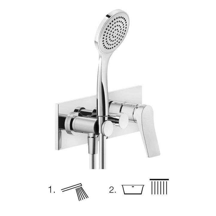 Смеситель для ванны c душем Gessi Rilievo 59140 ФОТО