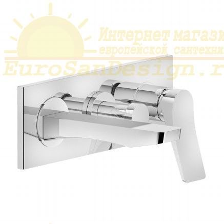 Итальянский смеситель с изливом и переключателем для ванны Gessi Rilievo 59138 ФОТО
