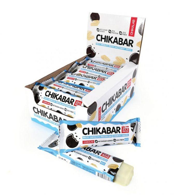 Протеиновый батончик в шоколаде Chikalab Печенье с кремом