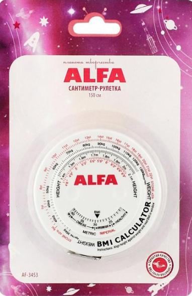 Сантиметр-рулетка биометрический Alfa (150 cм)