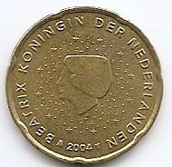 20 евроцентов Нидерланды 2004 регулярная из обращения