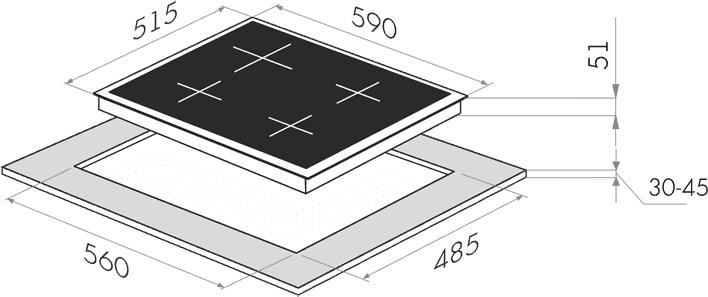 Электрическая варочная панель MAUNFELD EEHE.64.4W