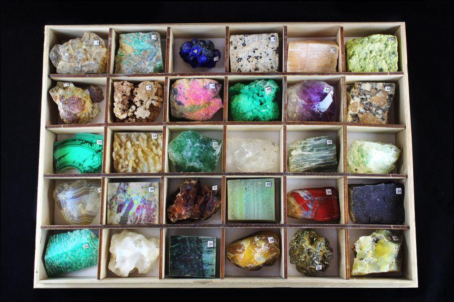 Коллекция минералов и горных пород (30 образцов)