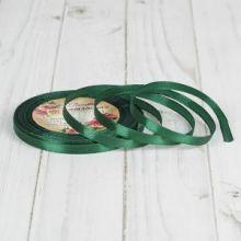 Лента атласная 0,6 см цвет зеленый