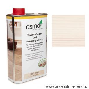 Специальное средство Osmo для очистки и обновления деревянных полов, покрытых маслом и воском Wachspflege- und Reinigungsmittel 1 л 3087 Белая прозрачная