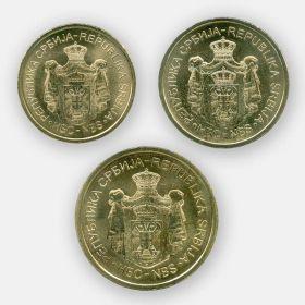 Набор Сербия 2019 Набор из 3 монет