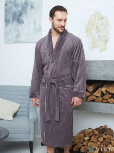 Мужской махровый халат из бамбука Mark II mokko