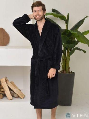 Мужской махровый халат Prestige Line черный