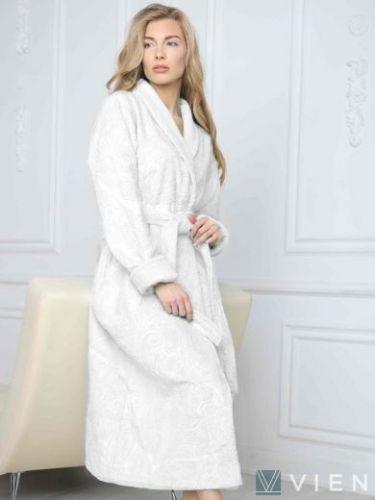 Женский бамбуковый халат Belinda крем