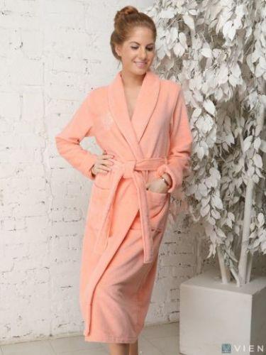 Женский бамбуковый халат Feliche персик